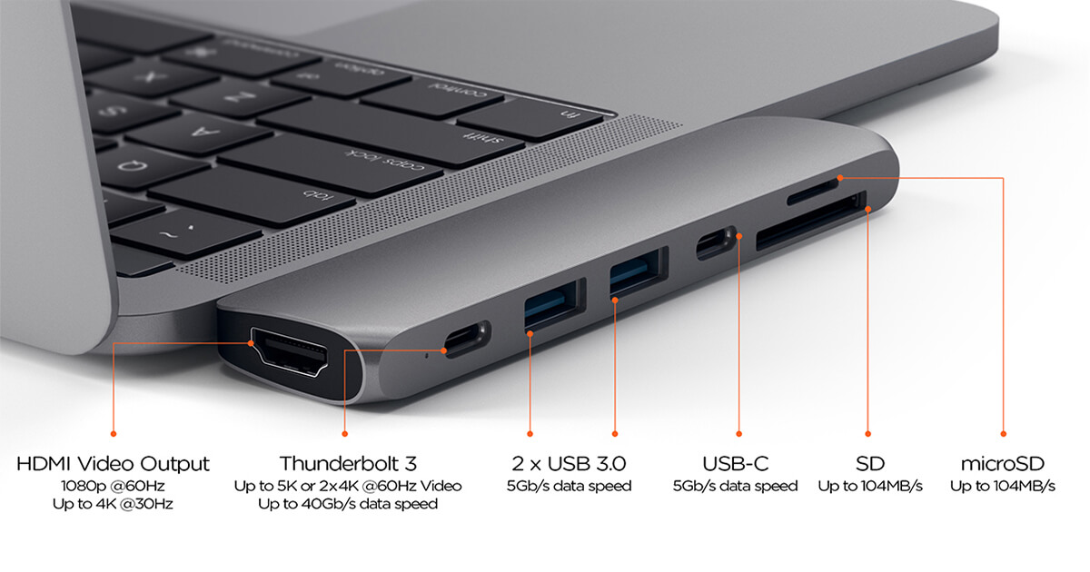 Hub USB Type-C definitivo per MacBook Pro 2016