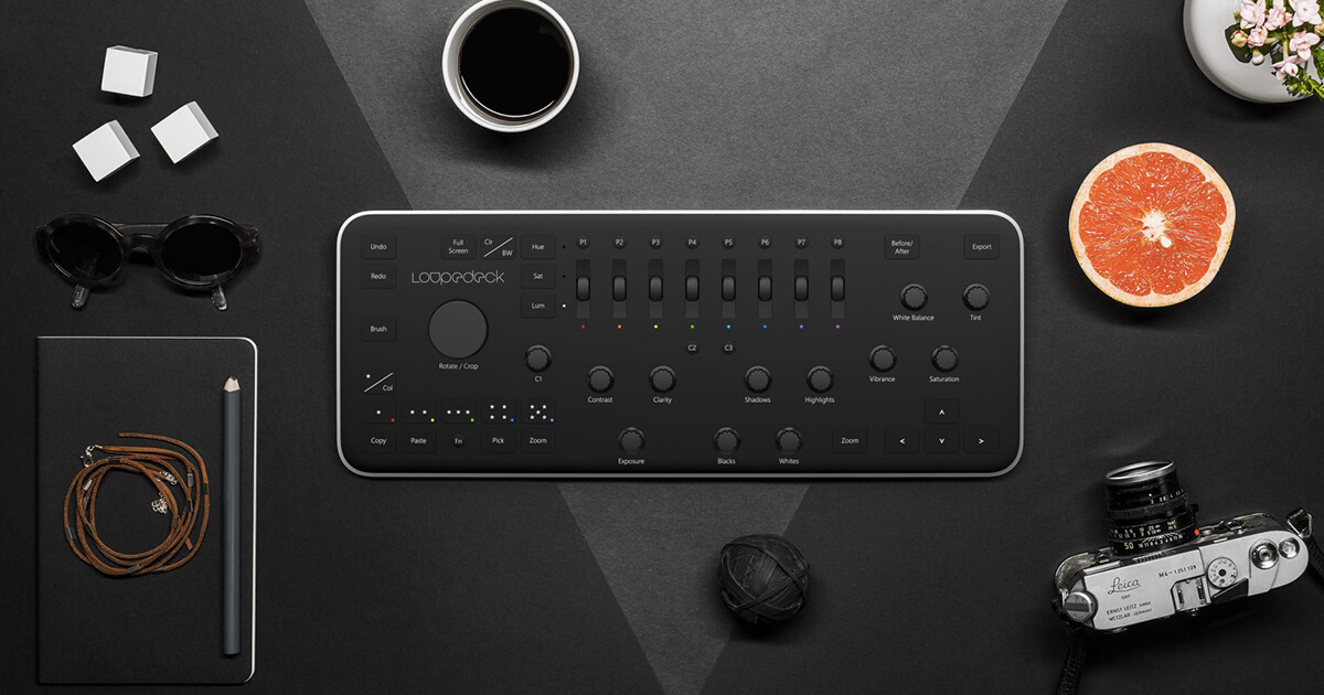 Loupedeck console photo editing Light Room