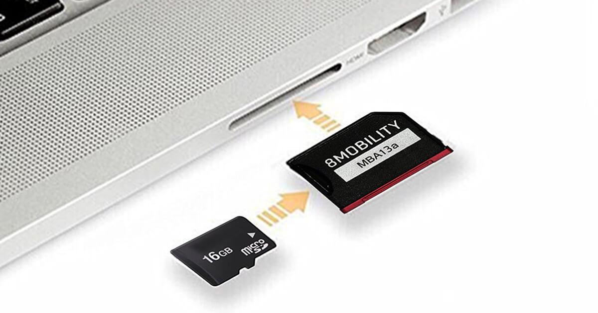 8Mobility aggiunge memoria al MacBook attraverso lo slot SD